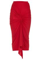 Gert-Johan Coetzee - Twist Skirt Red