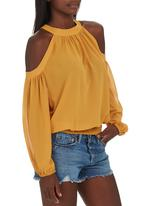 c(inch) - Peasant Blouse Yellow