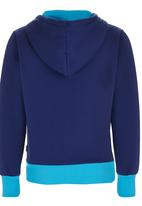 POP CANDY - Two-tone Hoody Jacket Mid Blue