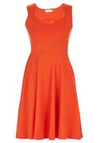 edit - Sweetheart Fit-and-flare Dress Coral