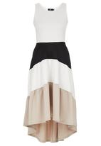 edit - Colourblock Fit-and-flare Dress Multi-colour