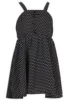 See-Saw - Sundress with Button Detail Black and White