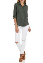 c(inch) - utility shirt Dark Green