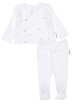 Nocturnal Affair - Star Embroided Set White