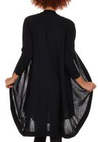 Passionknit - Cocoon Long Edge to Edge Cardi Black
