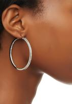 edit - Diamante Hoop Earrings Silver
