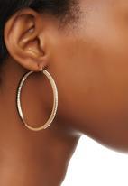edit - Diamante Hoop Earrings Gold