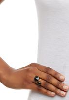 edit - Faceted Stone Ring Set Gold