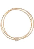 edit - Cluster Bangles with Diamante Charm Gold