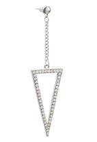 edit - Triangle Drop Earrings Silver