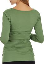 Cherry Melon - Side Gauge Long Sleeve Top Green