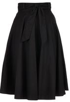 STYLE REPUBLIC - Flared Midi Skirt Black