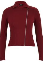 c(inch) - Structured Biker Jacket Dark Red