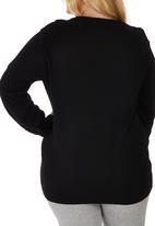 edit Plus - Basic Crew Neck Jersey Black