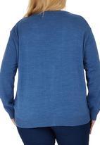 edit Plus - Classic Cardigan Mid Blue