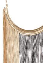 STYLE REPUBLIC - Fringe Benefit Multi Strand Necklace Gold