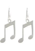 JLB Jewellery - Music Note Earrings Silver