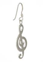JLB Jewellery - Music Key Earrings Silver