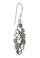 JLB Jewellery - Paisley Pattern Earrings Silver