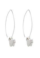 JLB Jewellery - Bird V-Hoop Earrings Silver