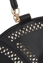 STYLE REPUBLIC - Cut-out Detail Trapeze Handbag Black