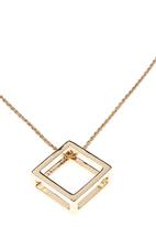 c(inch) - Cube Pendent Necklace Gold
