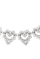 c(inch) - Heart Choker Silver
