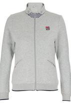 Erke - Full Zip Sweatshirt Pale Grey