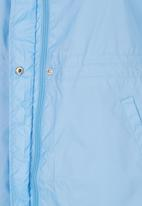 Erke - Longer Length Windbreaker Pale Blue