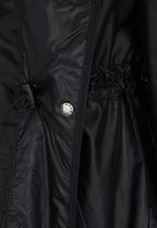 Erke - Longer Length Windbreaker Black