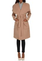 ONLY - Phoebe Long Wrapcoat Camel