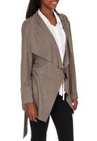 ONLY - Yasmin Suedette Jacket Grey