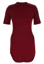 London Hub - High-neck T-shirt Tunic Red