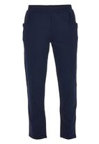 Erke - Knitted Cropped Pants Dark Blue