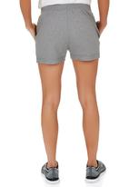 Erke - Knitted Drawcord Waist Shorts Dark Grey