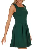 c(inch) - Babydoll Dress Dark Green
