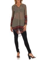 ONLY - Summit Springa Longline Patterned Shirt Multi-colour