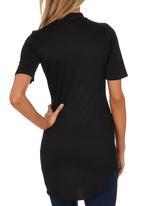 London Hub - High-neck T-shirt Tunic Black