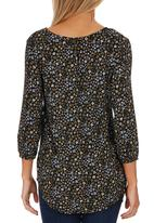 ONLY - Chamenz Patterned Tunic Black
