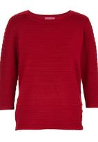Passionknit - Ottoman Rib Jumper Dark Red