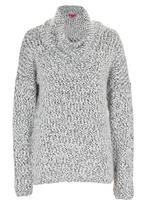 Passionknit - Chunky Fluffy Drop-shoulder Jumper Black and White
