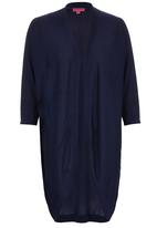 Passionknit - Cocoon Long Edge to Edge Cardi Navy