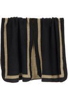edit - Border Stripe Blanket Wrap Brown/Black