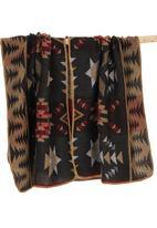 c(inch) - Aztec Blanket Wrap Black