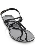 Zoom - Sling-back Sandals Black