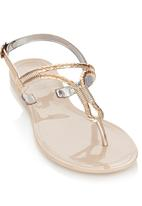 Zoom - Sling-back Sandals Gold
