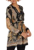ONLY - Snake Paisley Tunic Dress Black