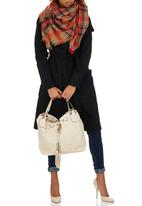 STYLE REPUBLIC - Tassel Trim Shoulder Bag Neutral