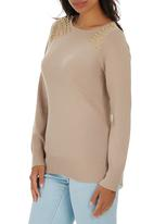 Passionknit - Boat-neck with Shoulder Trim Stone