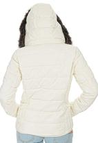 ONLY - Independence Hooded Puffer Off White